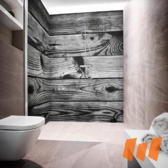 Holz Hüttenholz Grau