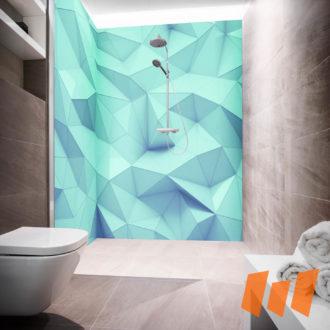 Abstrakt Geometrisch 3D Blau