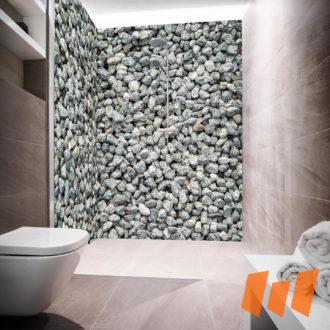 Schottersteine Grau