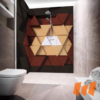 Geometrisch Muster Abstrakt Farbe