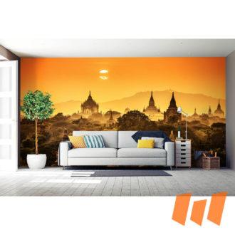 Indien Sonnenuntergang Orange