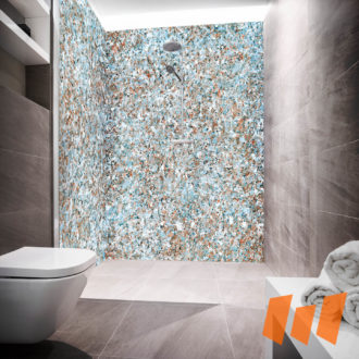 Granit Mineralgestein Bunt