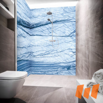 Salzberggestein Mineralstein Blau