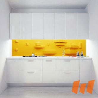 Abstrakt Stufen 3D Gelb