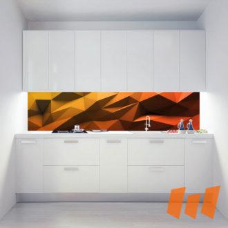 Abstrakt Geometrisch 3D Orange