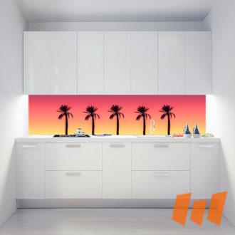 Palmen Silhouette Farbverlauf Warm