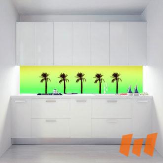 Palmen Silhouette Farbverlauf Kalt
