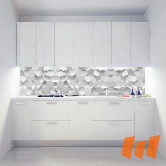 Hexagonale 3D Weiß