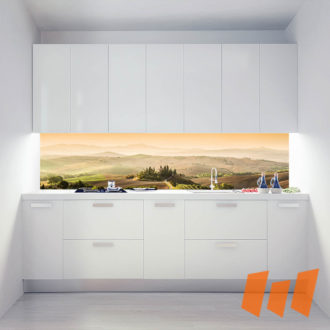 Mediterran Hof Landschaft Panorama